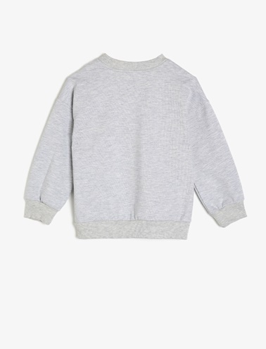 Koton Kids Pul Detaylı Sweatshirt Gri